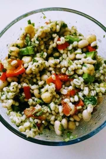 vegan bean grain salad gluten free healthy