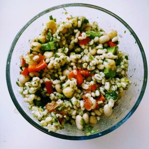 vegan bean grain salad gluten free healthy