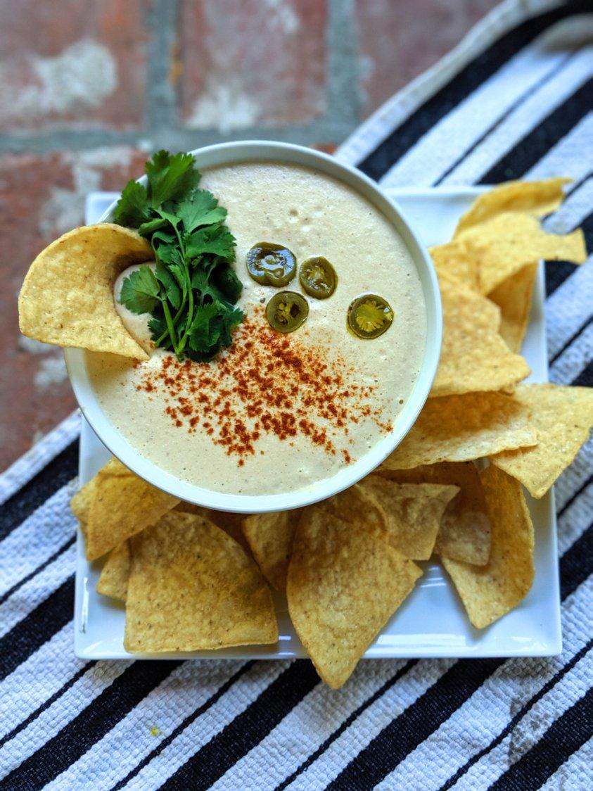 cashew cream queso salsa spicy pantry recipes