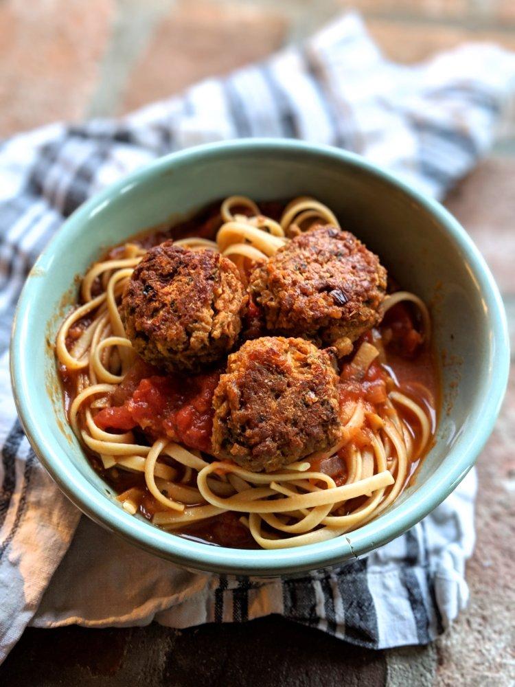 italian TVP meatballs recipe healthy homemade textured vegetable protein meatballs vegan gluten free spicy homemade for pasta or meatball subs vegetarian meatless