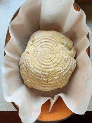 bread in a clay pot romertopf