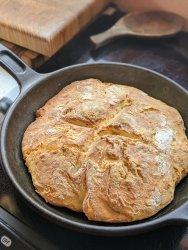 Homemade frying pan bread skillet olive oil bread recipe Pantry ingredients bread
