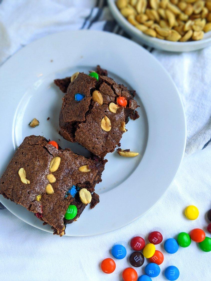 peanut M&M brownies m and m brownies with peanuts