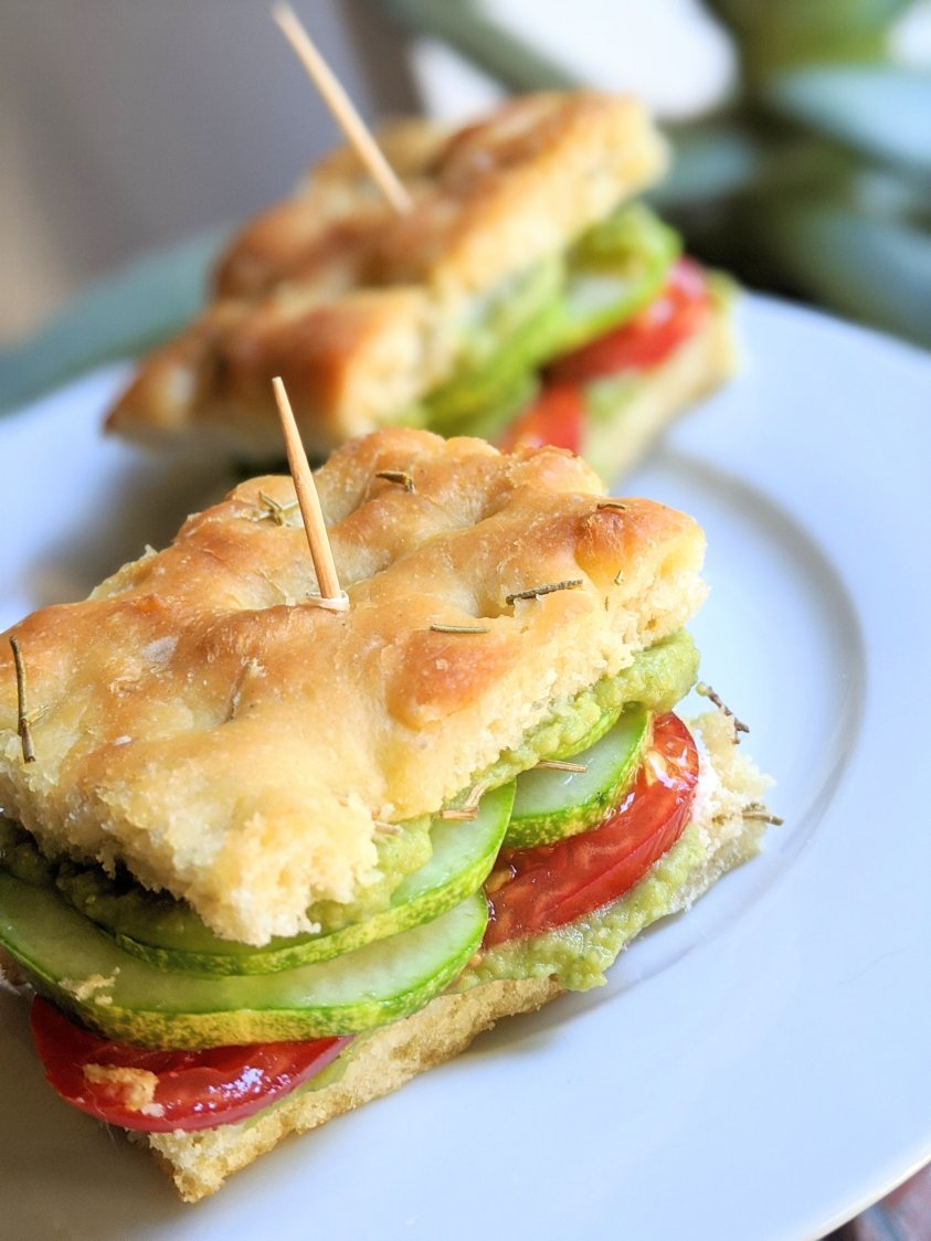 power outage sandwich recipes no cook hummus tomato cucumber sandwich on homemade focaccia bread easy vegan gluten free 5 minute no cook lunch ideas