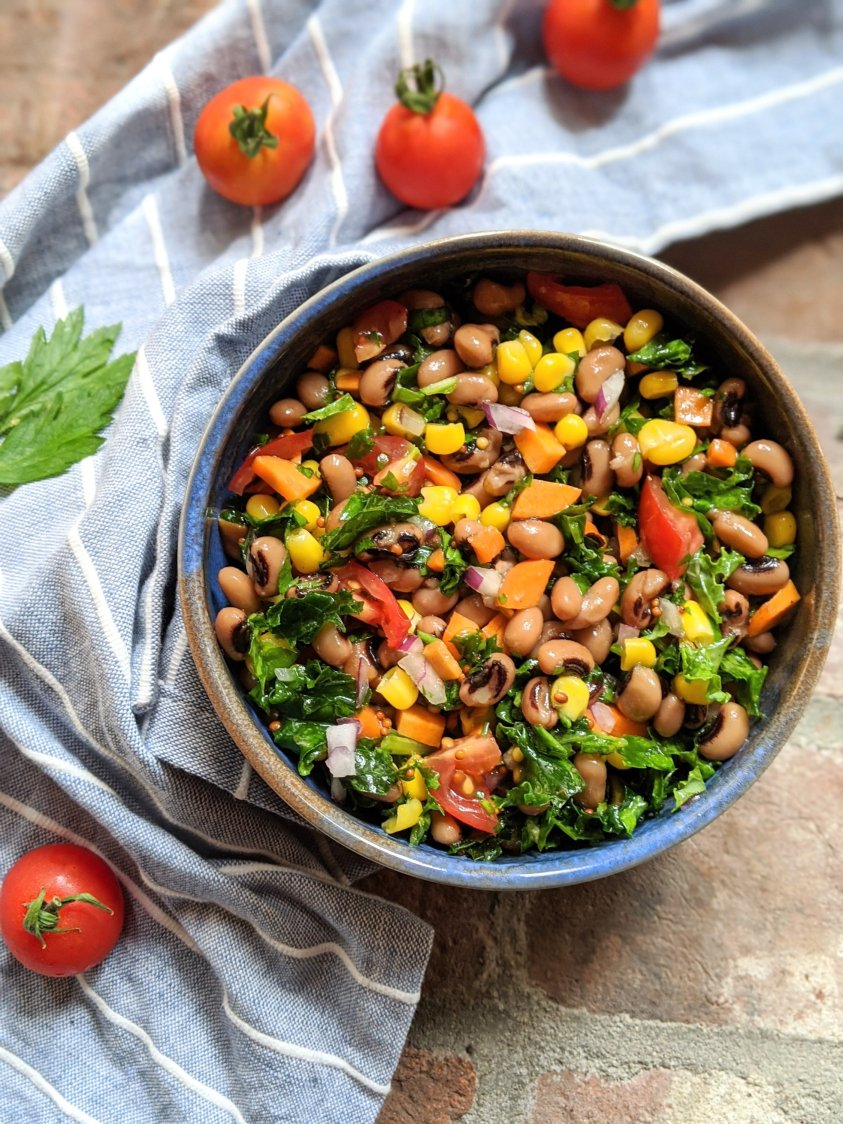 garden chopped salad with black eyed peas vegan vegetarian gluten free summer produce salad healthy recipes for summer parties southern salad recipes
