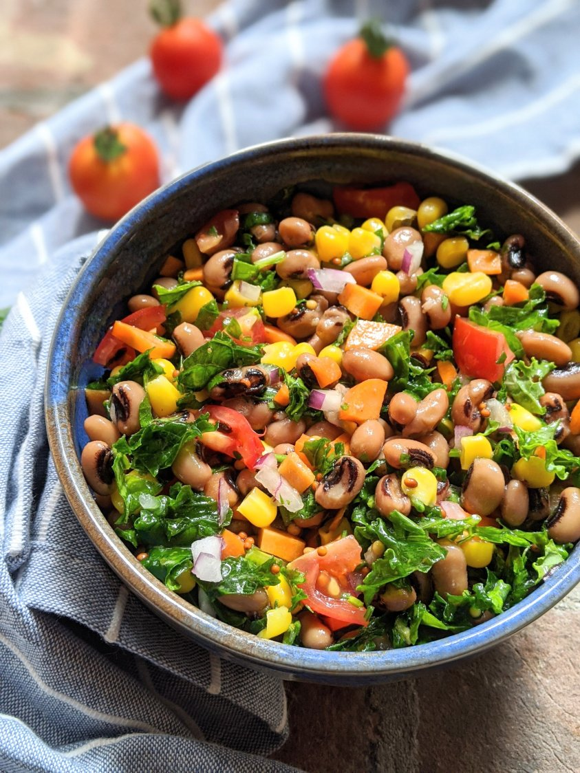 gluten free black eyed pea salad recipe vegan vegetarian apple cider vinaigrette homemade salad dressing black eyed pea summer salad parties bbq entertaining