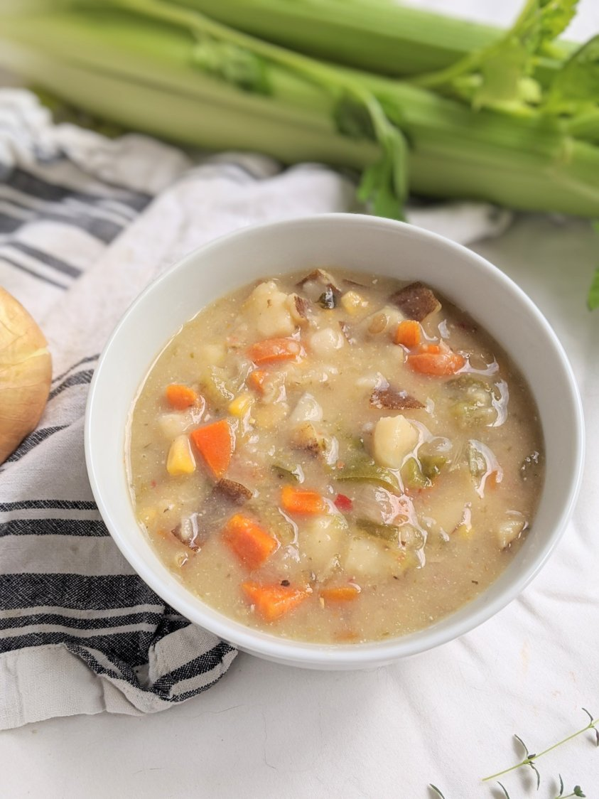 creamy potato chowder recipe healthy gluten free vegetarian meal prep soups instant pot creamy vegan soups