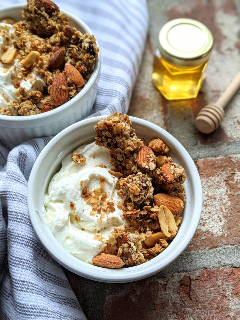 gluten free honey nut granola recipe healthy raw honey granola sheet pan breakfast ideas meals recipes bright high protein crunchy healthy fats for breakfast recipes with nuts almonds walnuts peanuts low sodium
