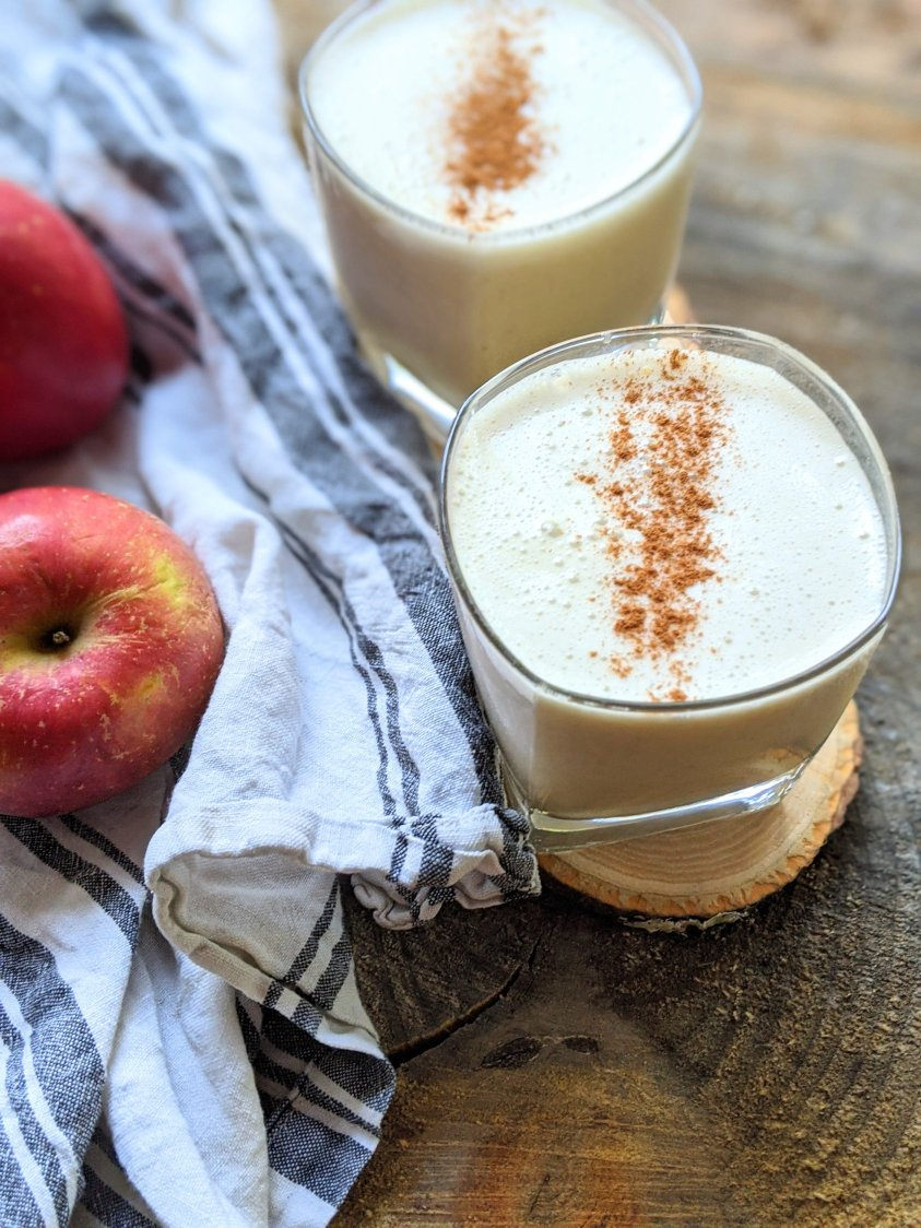 vegan apple pie smoothie recipe with protein powder vanilla ginger cinnamon apples banana almond milk or any milk of choice