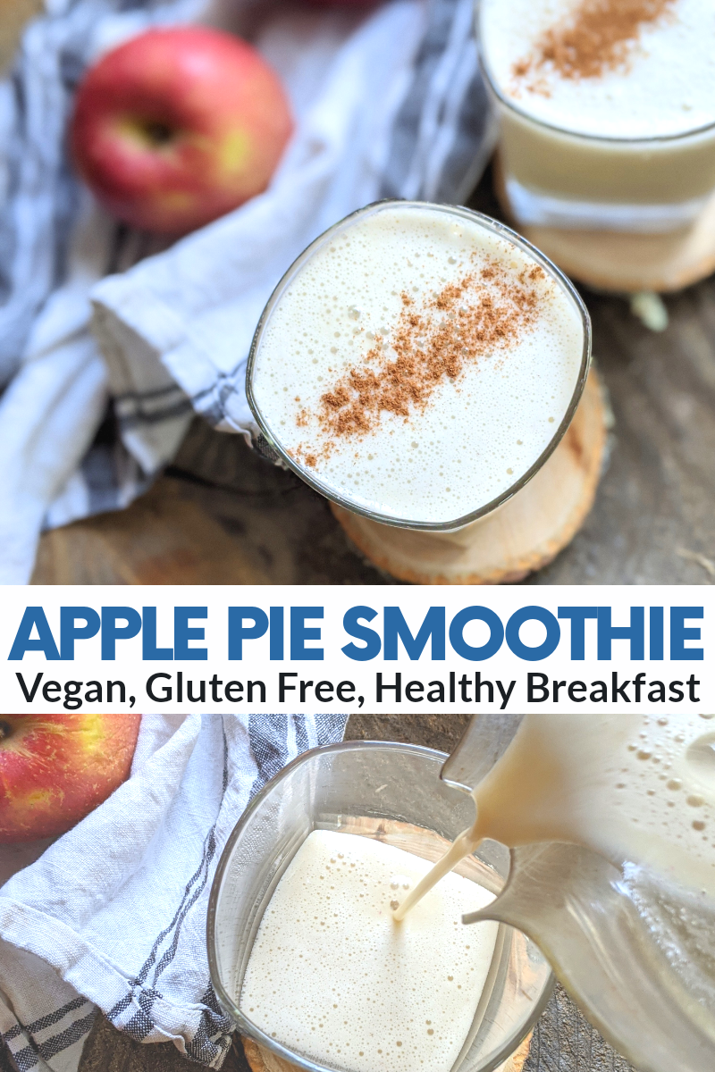 applie pie protein smoothie vegan gluten free dairy free healthy breakfast protein shake after workout post work out recovery shake vegan vegetarian plant based no collagen