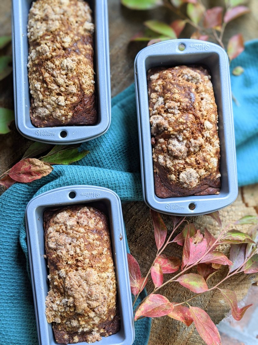 egg free pumpkin bread recipe eggless dairy free vegan vegetarian pumpkin bread with pumpkin puree made from scratch healthy fall hostess gifts to bake or make diy baking gifts