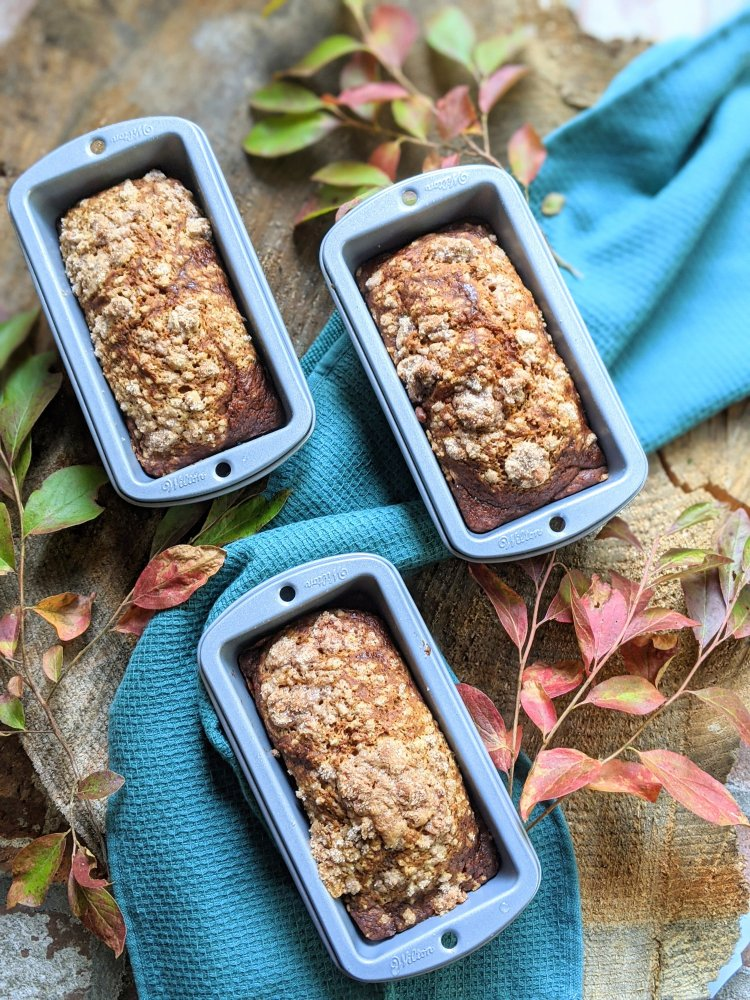 recpies for mini loaf pans vegan pumpkin breads healthy vegetarian gluten free option egg free dairy free recipes for fall autumn weather