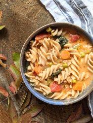 creamy minestrone soup recipe vegan dairy free healthy high protein