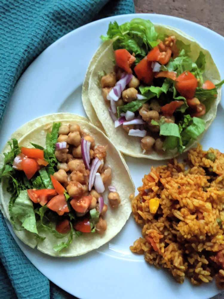 recipes with bbq chickpeas canned garbanzo bean tacos vegan gluten free dairy free veganuary healthy high protein plants