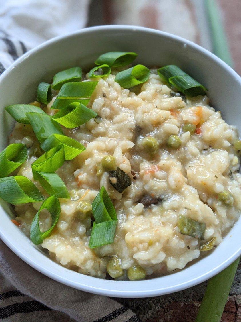 healthy vegan mushroom risotto instant pot recipe vegan gluten free vegetarian one pot no stir risotto for pressure cookers