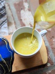golden milk latte with almond milk turmeric healthy gluten free