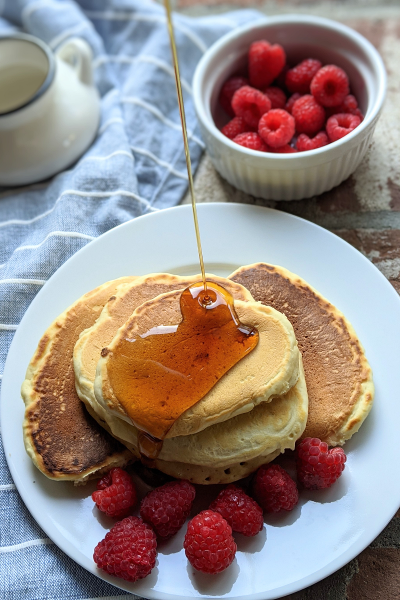 pancakes with oat milk vegan recipe vegetarian brunch recipes with buttermilk easy simple breakfast or brunch make ahead recipes time saving pantry staples