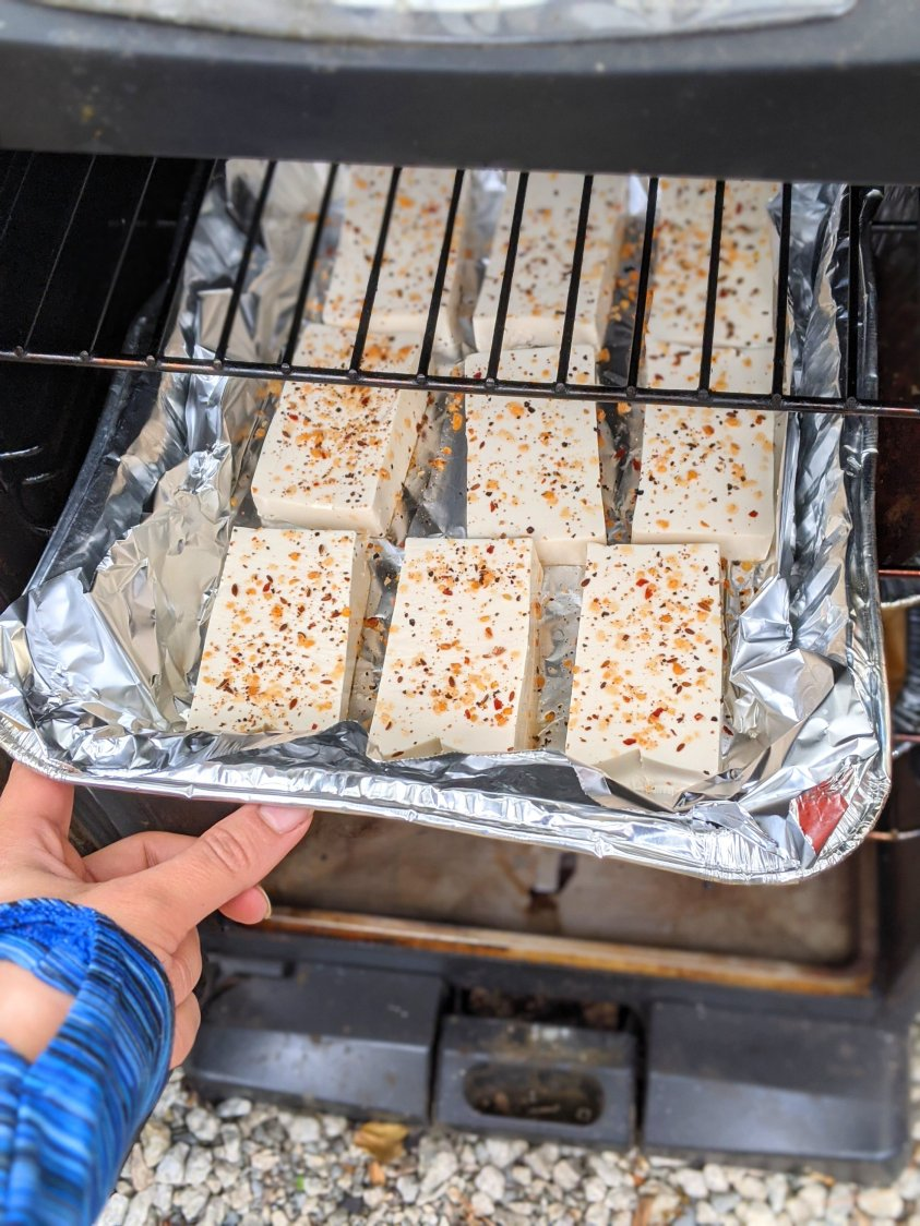 electric smoker recipes vegetarian vegan gluten free healthy high protein tofu recipes smoked smoker tofu
