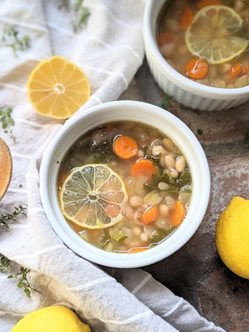 vegan white bean soup recipe meal prep healthy vegan gluten free detox meal prepping recipe make ahead batch cook soup for lunches or dinners for work or school