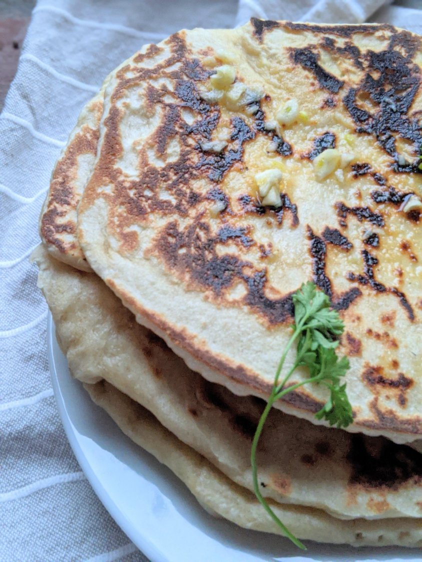 how to make sourdough naan at home recipe vegan plant based flat nread indian mediterranean wrap bread pita at home healthy with sourdough discard