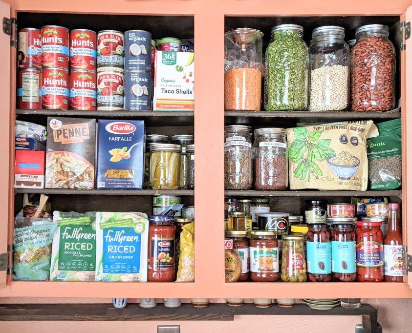 vegan pantry staples recipes ingredients list pantry organization cupboards and dry storage