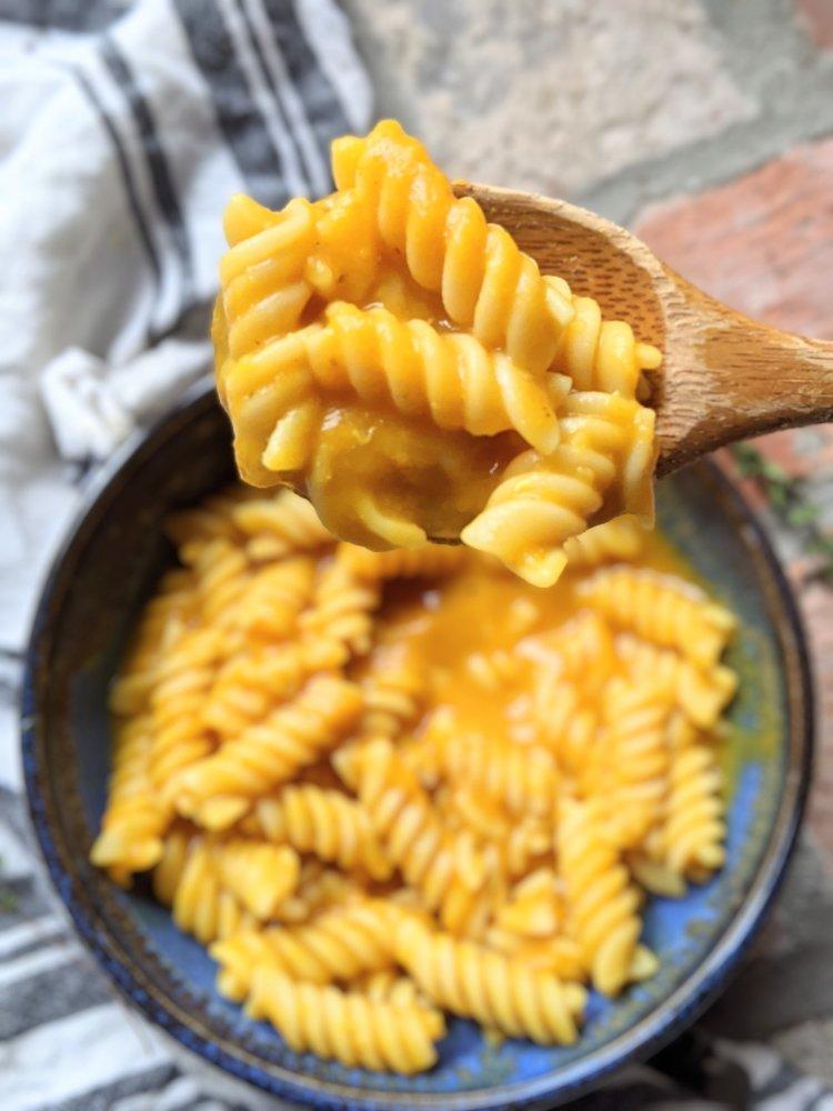 creamy vegan pumpkin pasta recipe healthy gluten free no dairy no cheese
