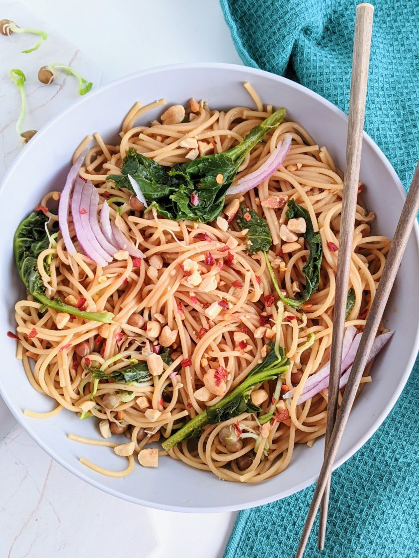 best peanut noodles recipe easy weeknight dinner ideas for kids families vegan gluten free vegetarian no meat no dairy egg free healthy