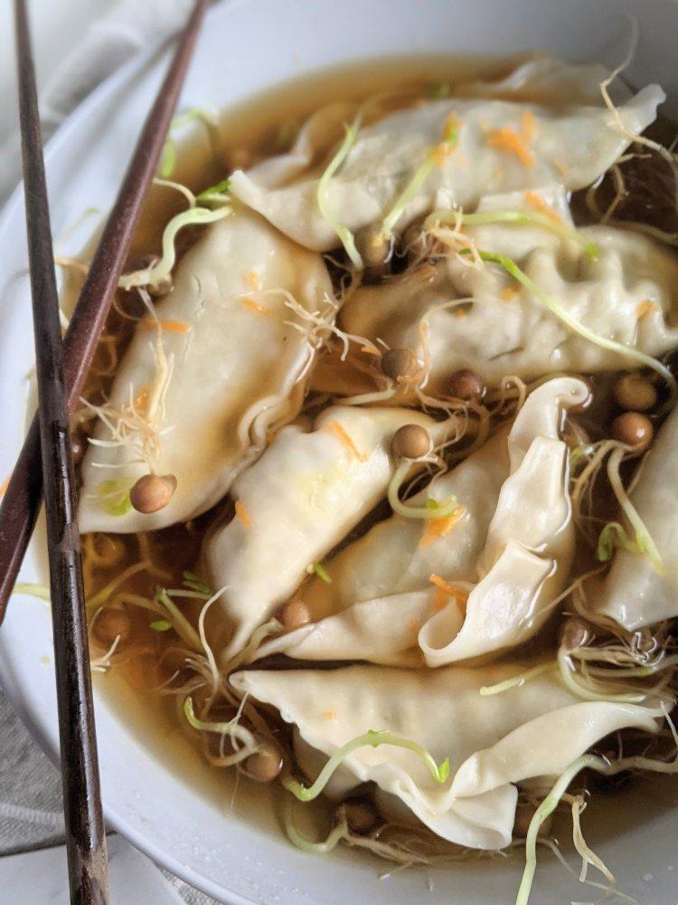 pot sticker soup recipe healthy gluten free vegan easy weeknight meals low calorie dinner ideas