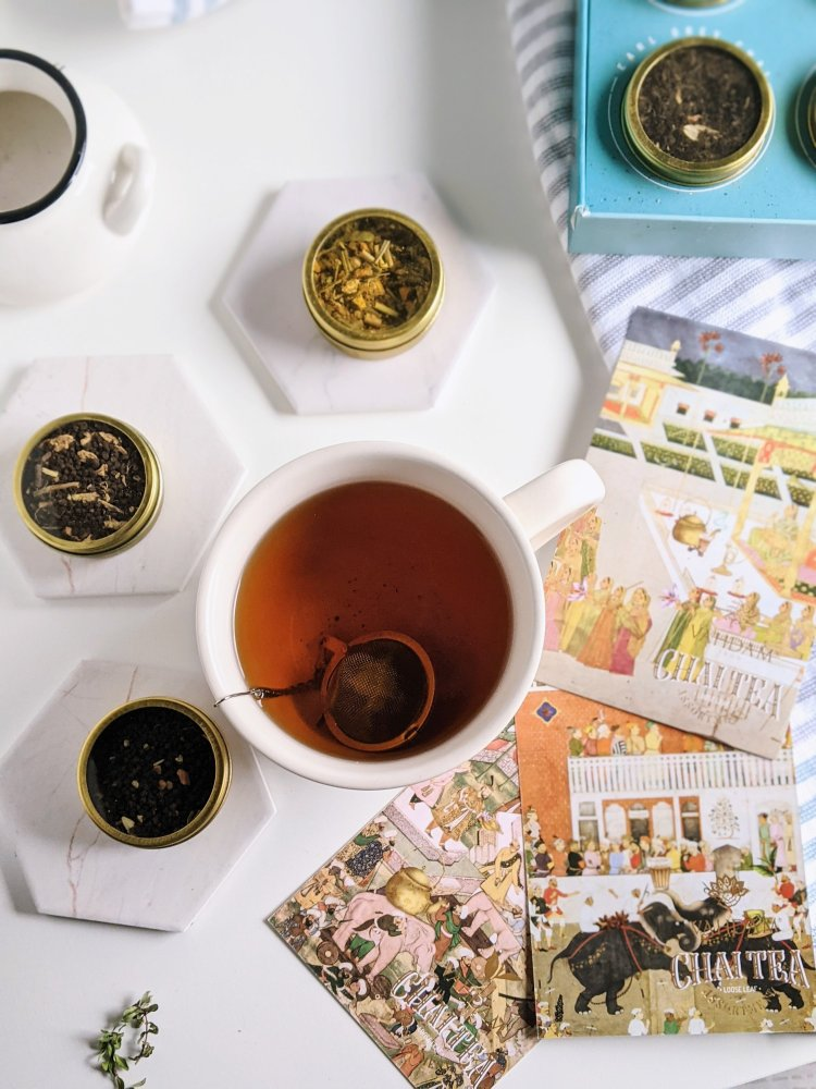 loose leaf chai tea vahdam india chai sampler assortment of teas vanilla chai earl grey masala chai spice healthy antioxidant caffeine free