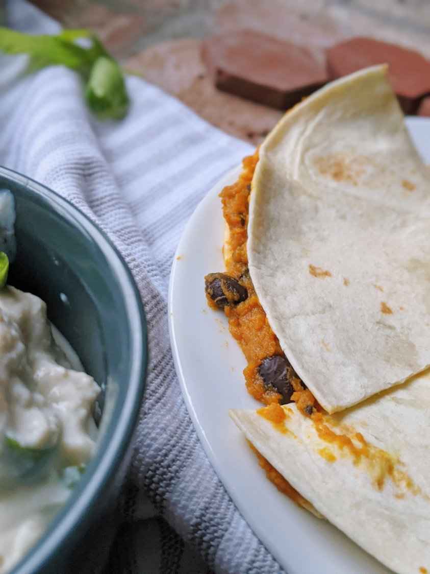 no cheese quesadilla recipes filling with beans and pumpkin vegetables healthy canned pumpkin recipes savory fall or winter lunch ideas with squash