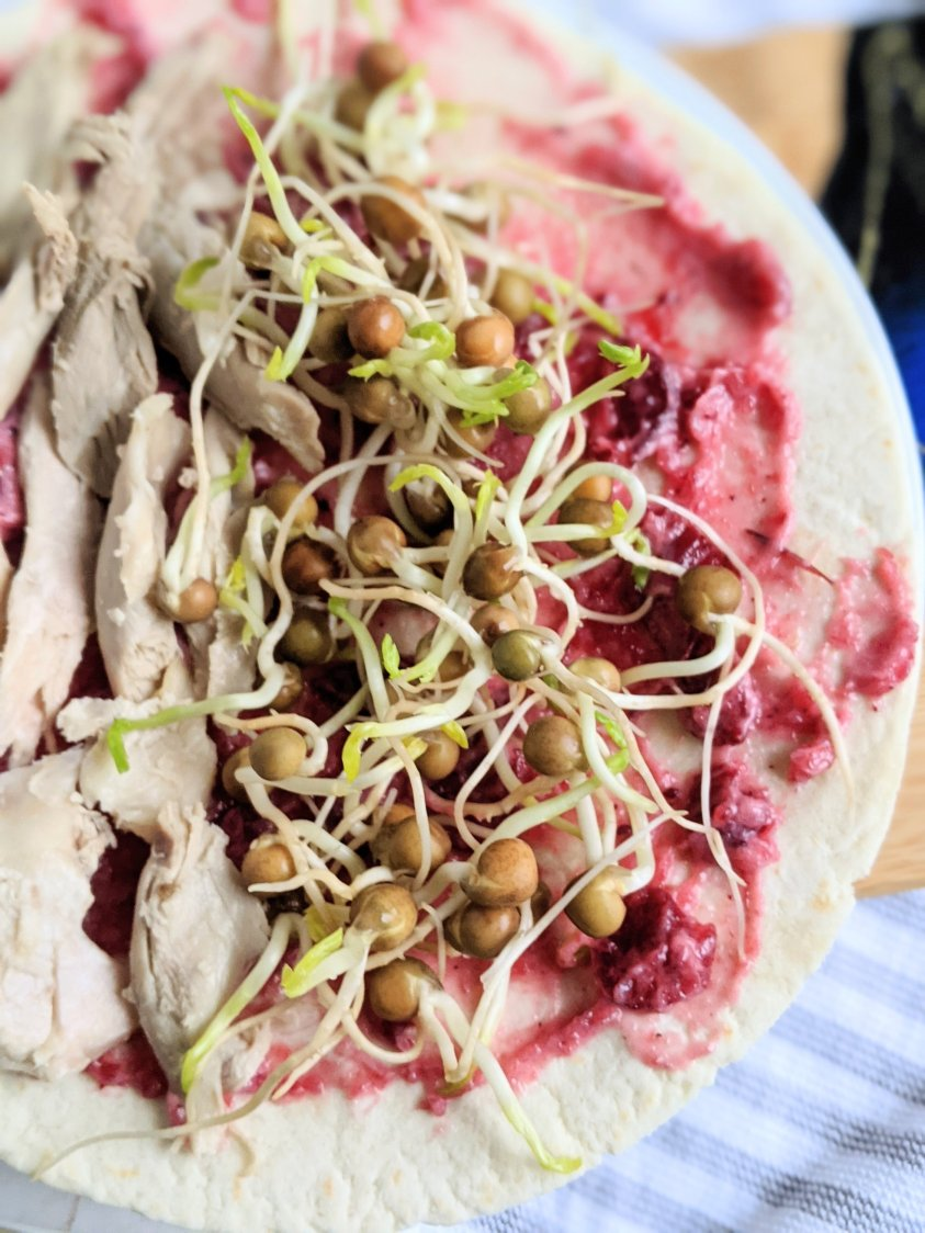 healthy cranberry turkey wrap sandwich lunch meal prep lunches light dinners after thanksgiving recipes