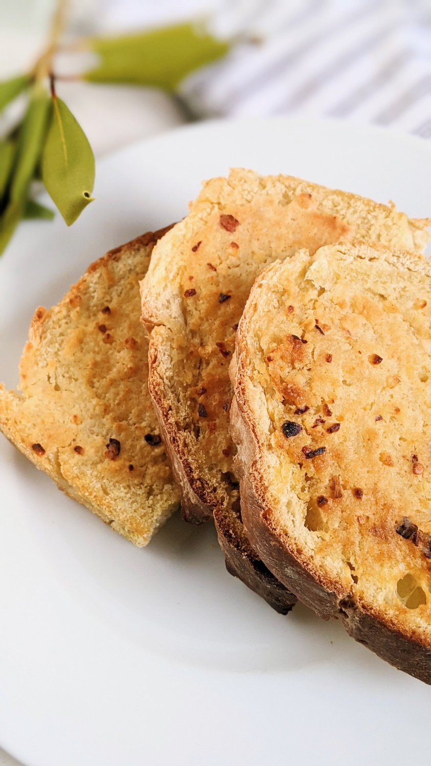healthy garlic bread recipe in the air frier air fried garlic bread with homemade sourdough bread or gluten free sliced bread vegan vegetarian meatless monday dinner ideas veganuary air frier recipes
