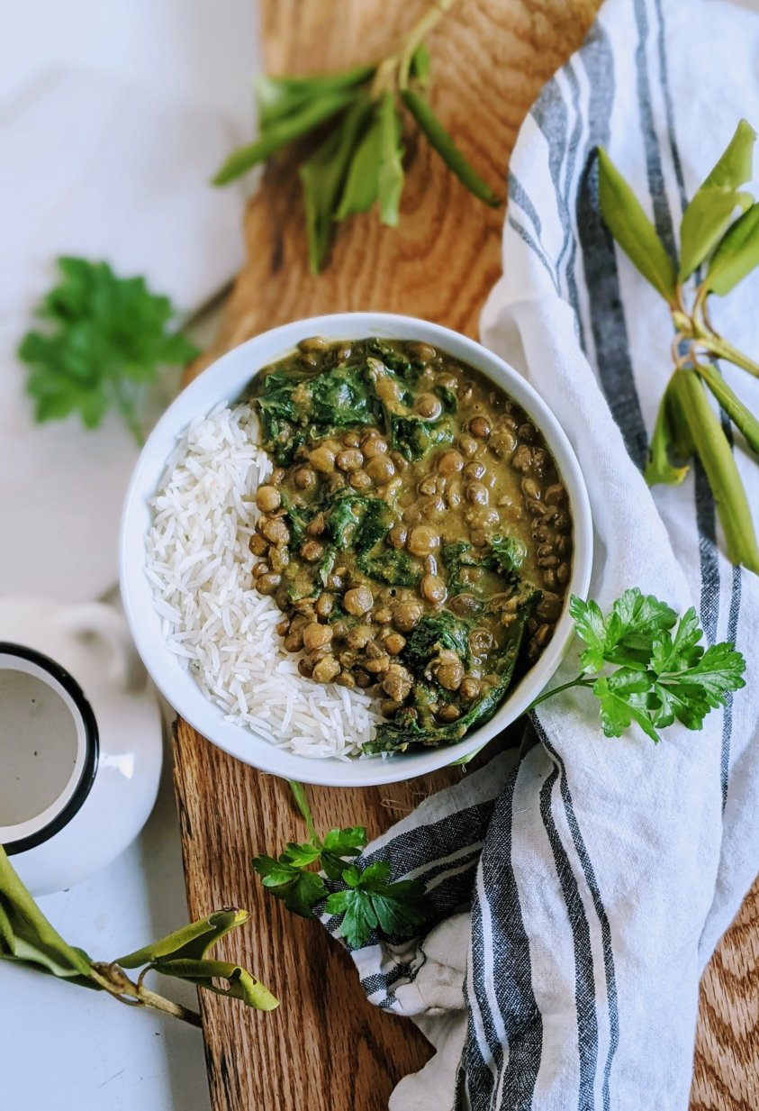 lentil and kale curry recipe vegan gluten free coconut milk dairy free curry healthy lentil and collard green curry with cilantro lime basmati rice