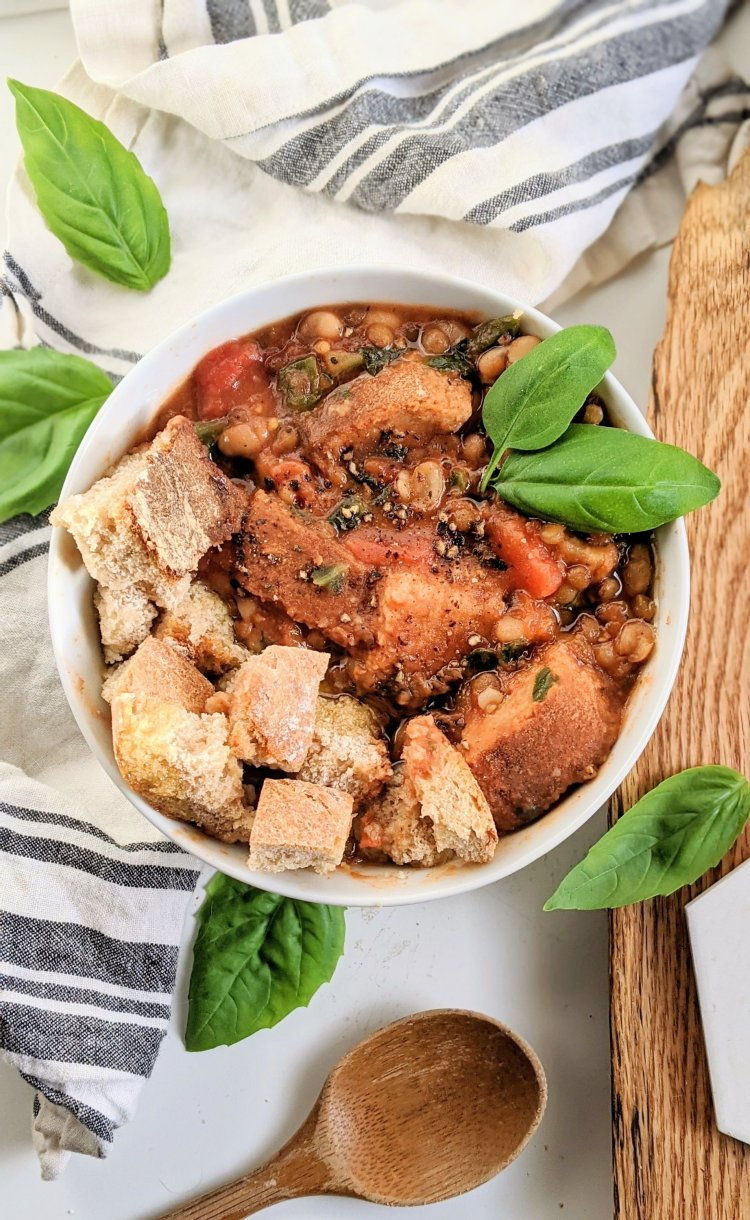 vegan ribollita soup with lentils high protein italian soups vegetarian meatless gluten free bread ribollita recipes veganuary healthy bread soup tuscan italian appetizers meals