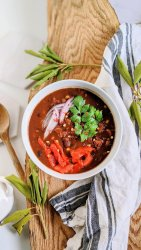 three bean chili vegan 3 beans chili recipe healthy high protein soups stews vegetarian gluten free meals healthy kidney beans black beans and pinto beans stew