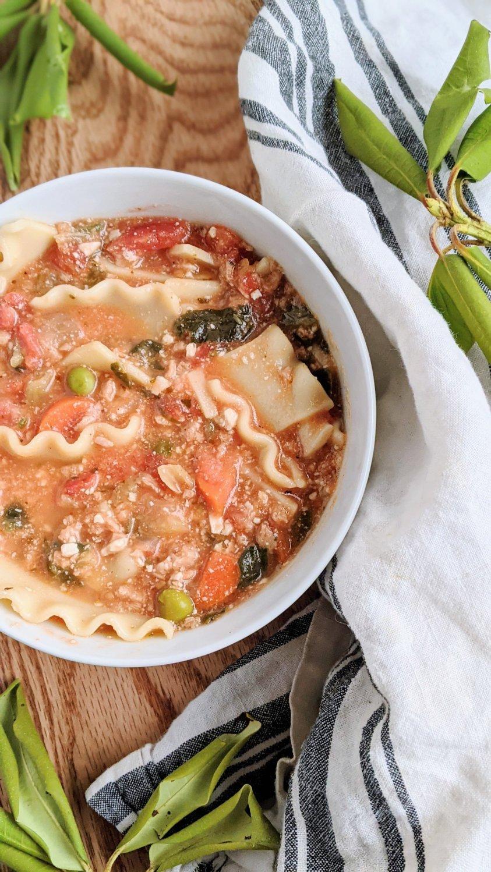 gluten free lasagna soup recipe vegetarian vegan plant based dairy free lasagne soup high protein vegan soup recipes