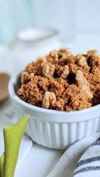 healthy chocolate walnut brownies eggless no eggs egg free recipe healthy vegan gluten free paleo whole30 desserts with sweet potatoes