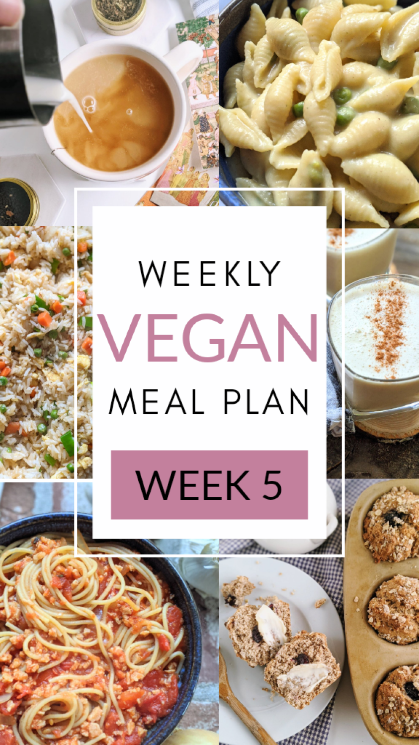 weekly vegan meal prep recipes meal planning veganuary plant based healthy dairy free egg free vegetarian recipes for breakfast lunch dinner and bread meal prep baking