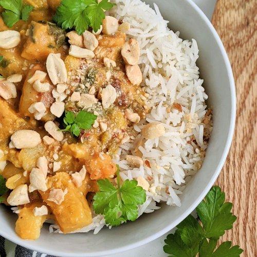 whole30 sweet potato dinner recipes healthy vegan vegetarian paleo recipes gluten free coconut milk curry with peanuts