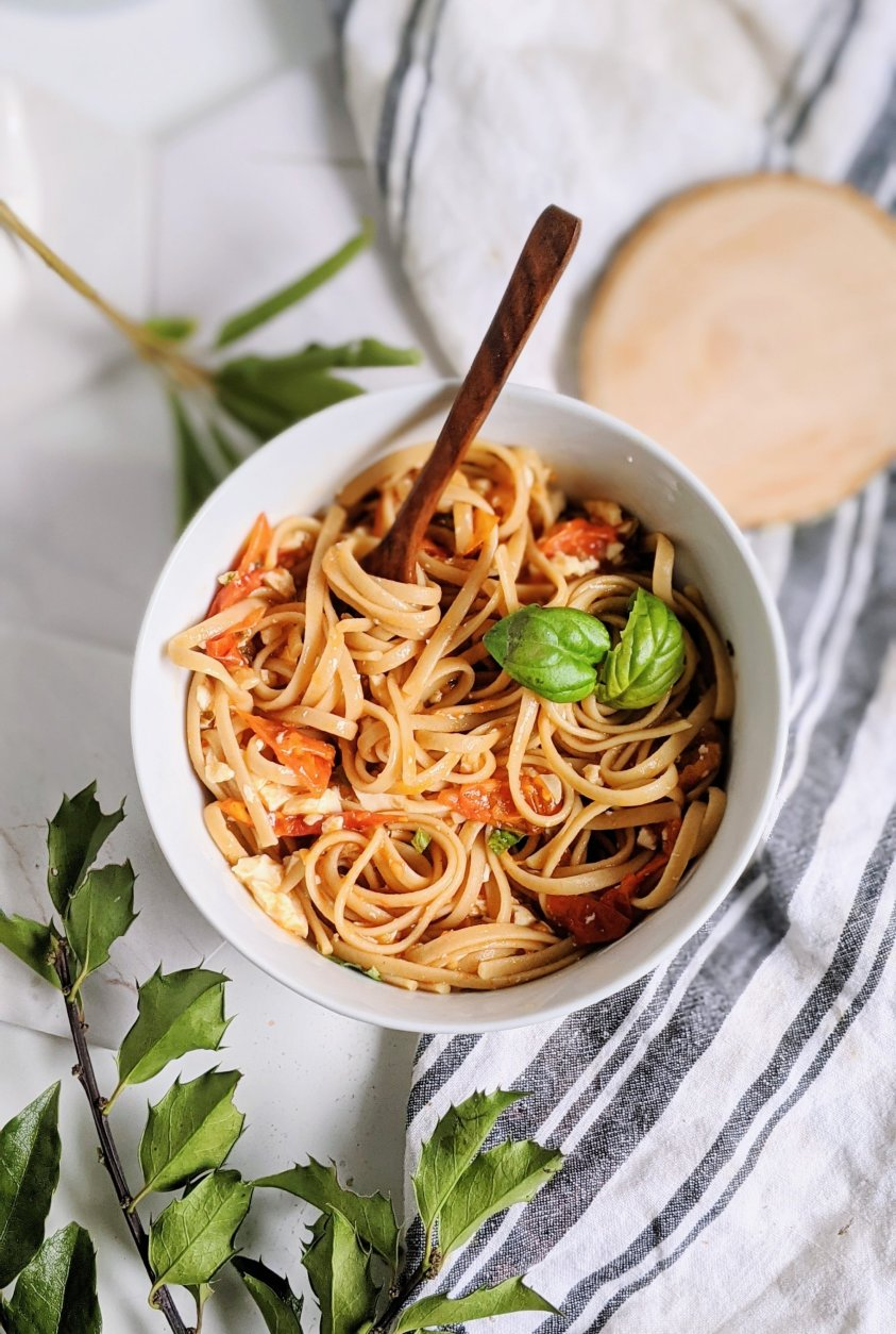 gluten free tiktok feta pasta hack plant based dairy free tiktok feta alternatives paste recipes healthy non dairy vegan vegetarian pastas viral recipes tic toc pasta hack