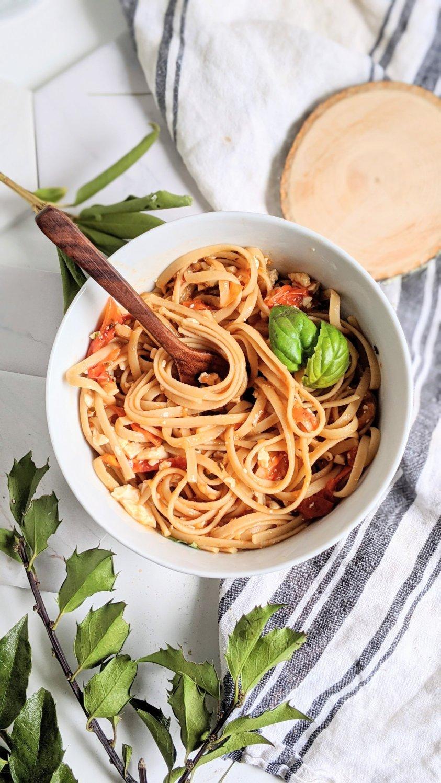tiktok pasta vegan feta cheese recipe 30 minute baked dairy free pasta with silken tofu recipe viral pasta hack from tik tok
