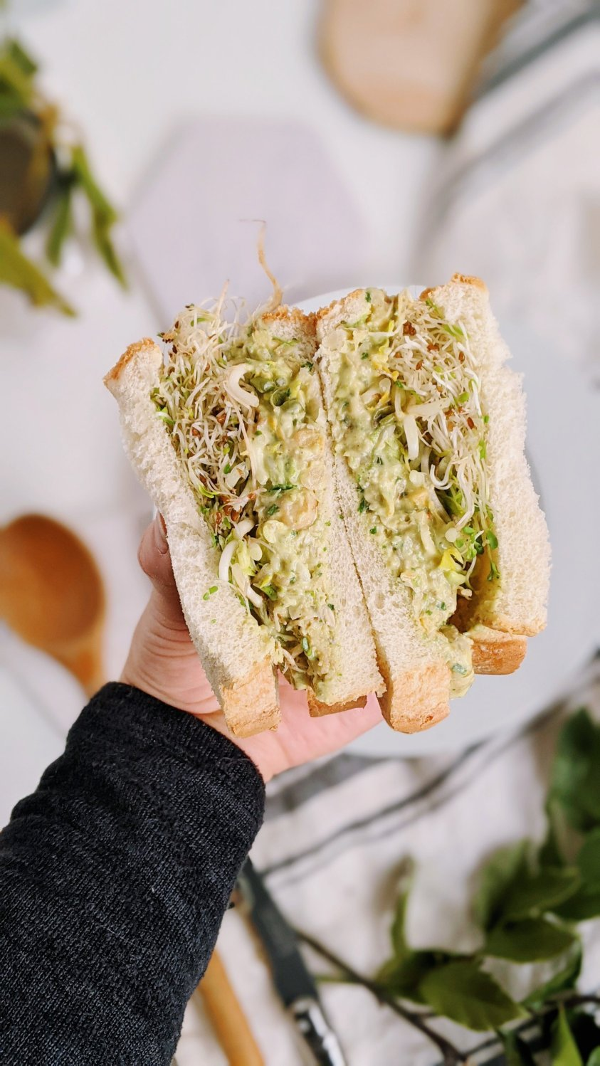 vegan pesto sandwich with chickpeas plant based gluten free pesto salad sandwiches no cook lunch recipes vegetarian gluten free healthy homemade lunches no heat