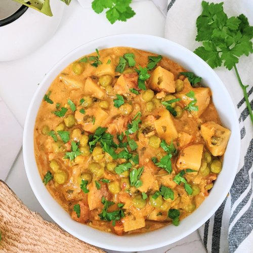 instant pot aloo matar vegan recipe healthy gluten free indian food pea and potato curry recipes