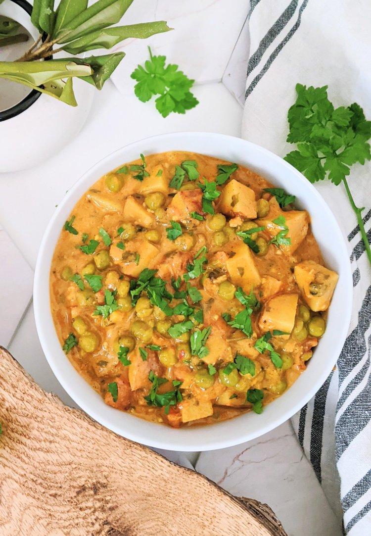 instant pot aloo matar vegan recipe healthy gluten free indian food pea and potato curry recipes