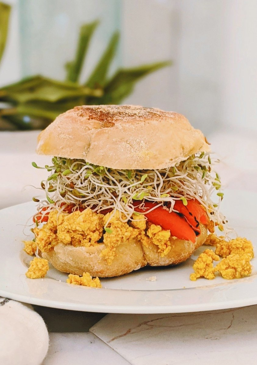 turmeric tofu breakfast sandwich recipe vegan gluten free high protein breakfast sandwiches healthy plant based protein can you eat tofu for breakfast