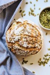 sourdough pumpkin seed bread recipe seeded sourdough vegan vegetarian nut free bread recipes dairy free