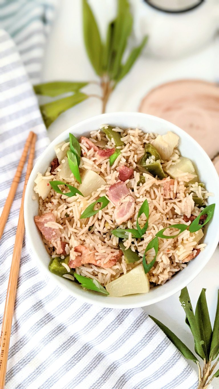 bacon pineapple fried rice gluten free recipes with leftover rice old takeout rice recipes with leftover bacon crumbs bacon bits fried rice recipe
