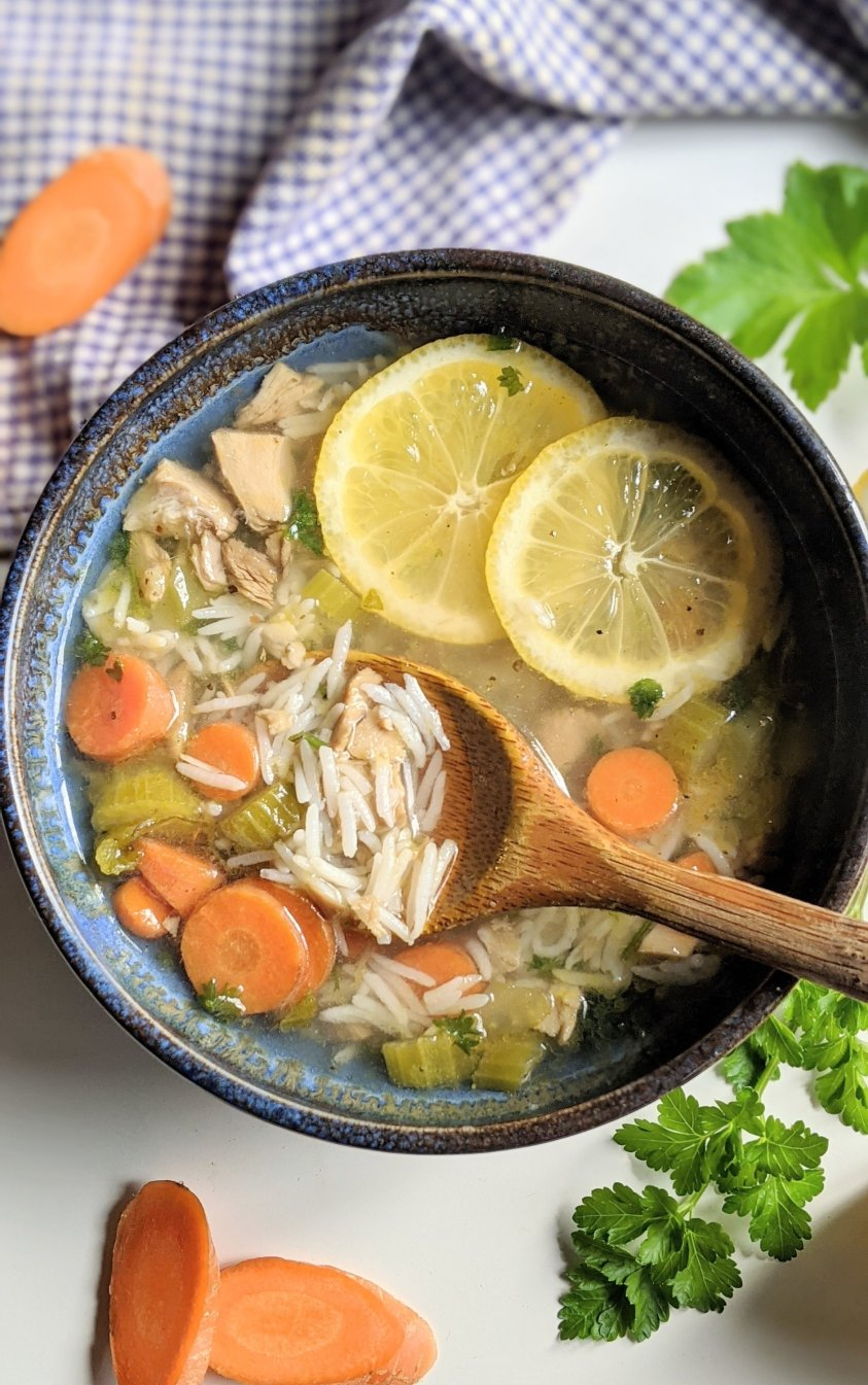 turkey lemon rice soup recipe with leftover turkey soups with old rice leftovers healthy gluten free turkey soups dairy free soups with cooked turkey one pot soup recipes healthy