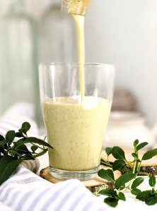 lemon basil smoothie recipe raw vegan gluten free easy 5 minute blender breakfast shakes with protein powder recipes with lemon balm healthy