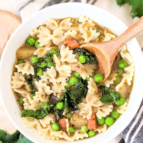 vegan spring minestrone with pesto soup recipe vegetarian spring recipes with spring vegetables healthy seasonal spring recipes for lunch or dinner vegan gluten free